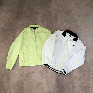 2 Windbreaker Jackets (Puma/Reebok) Size Medium